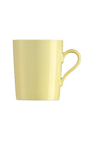 Arzberg Tric Gelb Becher mit Henkel, Porzellan, Yellow, 28.1 x 20.4 x 10.9 cm