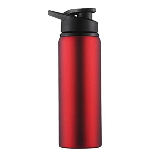HKDZB Botella de Agua de Bicicleta Portátil Recto Beber al Aire Libre Deportes Hervidor de Viaje 700ml Botellas de Agua de Acero Inoxidable Piezas de Bicicleta (Color : Red)