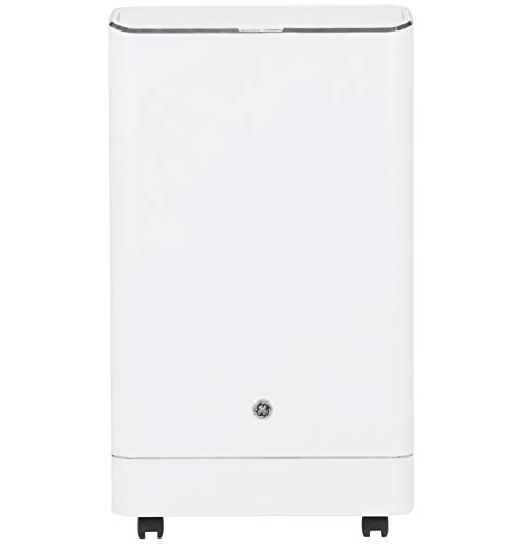 GE Appliances 13,500 BTU Single Hose 3-IN-1 Portable Air Conditioner, APCA14YZMW, white humidty-meters