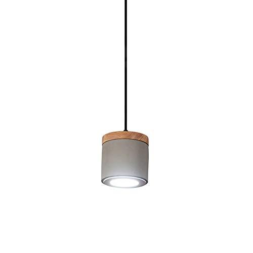 LED Pendelleuchte Beton Lampe Esszimmer Hängeleuchte Modern Vintage Industrie Design Hängelampe küchenlampe Beton Lampenschirm Kronleuchter E27 Schlafzimmer Bedside Decor Retro Holz Pendellampe