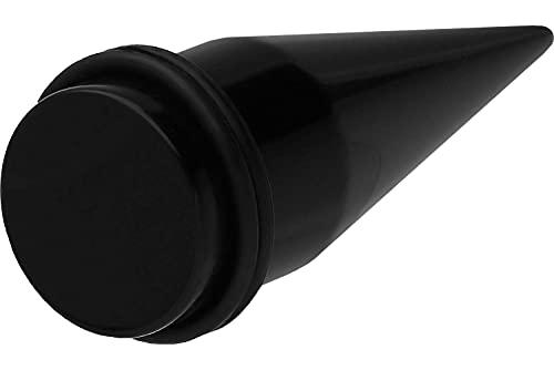PIERCINGLINE® Dilatación en Fibra acrílica Monocolor 16 mm Negra