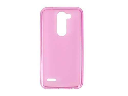 etuo Handyhülle für LG X Mach - Hülle FLEXmat Hülle - Rosa - Handyhülle Schutzhülle Etui Hülle Cover Tasche für Handy