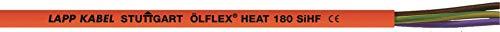 10 Meter Lapp 00460223 Ölflex Heat 180 Silikonleitung 5G2,5 mm² I Saunakabel 5x2,5 mm² I Saunaofen Kabel 10 m I Silikonkabel 5 x 2,5 mit grün-gelben Schutzleiter SiHF