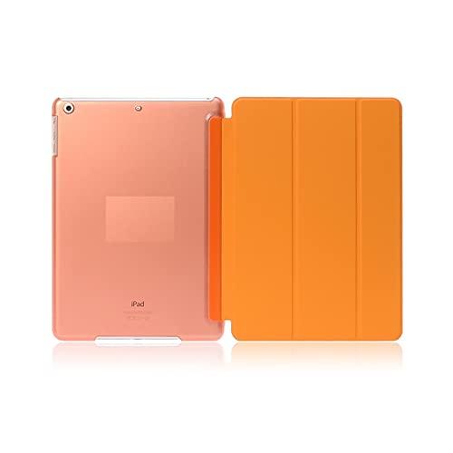 CX Caso Apto para Apple iPad 10.2inch 7º / 8th Gen 2019 2020 Fundas De Color PU Protector Ultra Slim Auto Wake Foot Fit para iPad 10.2 '' (Color : Orange, Size : iPad Pro10.5 2017)