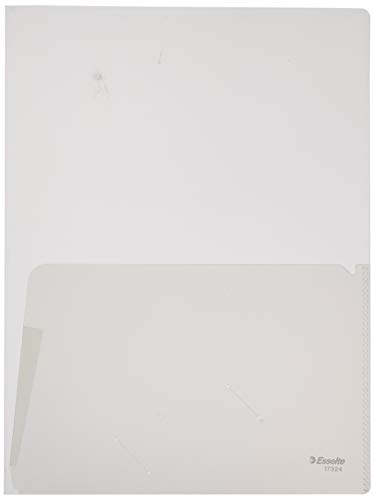 ESSELTE 17324 - Dossiers CANGURO doble PP 180 micras (bolsa 5 ud.) DIN A4 color transparente ✅