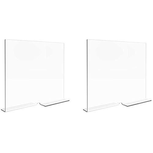 Casinlog - Divisori per mensole per armadi, divisori trasparenti per armadi in legno, armadietti, divisori e separatori, confezione da 2