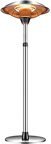 Calentador de Aire Caliente Calentador De Patio Infrarrojo   Calentador Eléctrico Tranquilo 3 Ajuste De Calor, Polvo Y Impermeable IP44 Calentador Interior Independiente, For Jardín Al Aire Libre / In