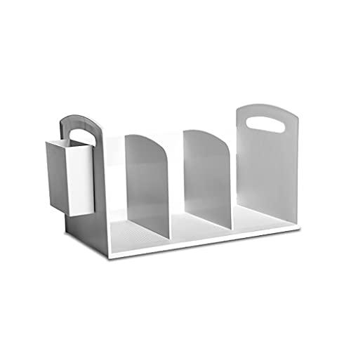 LLRZ Sostenedores de libros organizadores de escritorio para estanterías de almacenamiento de la estantería de escritorio para libros revistas, CD y estantes de fotos