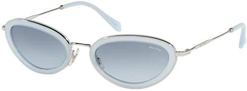 Miu Miu Damen 0MU 58US Sonnenbrille, Opal Azure, 54