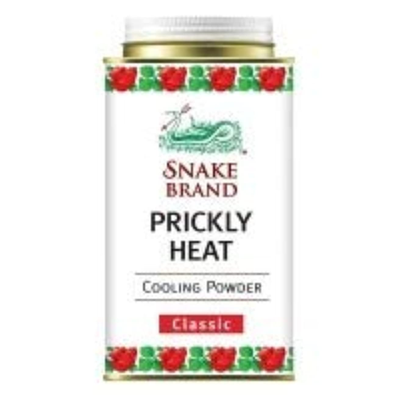接尾辞ブローホールタブレットSnake Brand Prickly Heat Cooling Powder, good for heat rash 140 g. (Wild Tanaka)