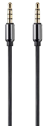 Monoprice Onyx Series Auxiliary 3.5mm TRRS Audio & Microphone Cable, 6ft - (118633) Black
