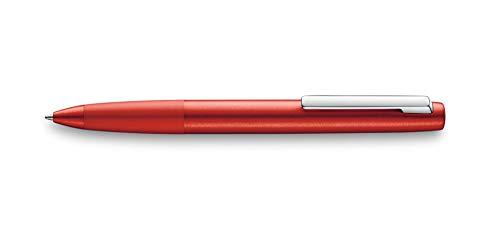 LAMY aion Kugelschreiber 277 – Moderner Kuli in der Farbe Rot aus einem nahtlos aus Aluminium tiefgezogenen Gehäuseteil – Rotationsgebürstete Oberfläche – Stichbreite M