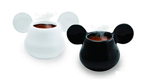 Joy Toy 62128 MICKEY MOUSE 3D - Taza (cerámica, 13 x 8 x 8 cm), color blanco y negro