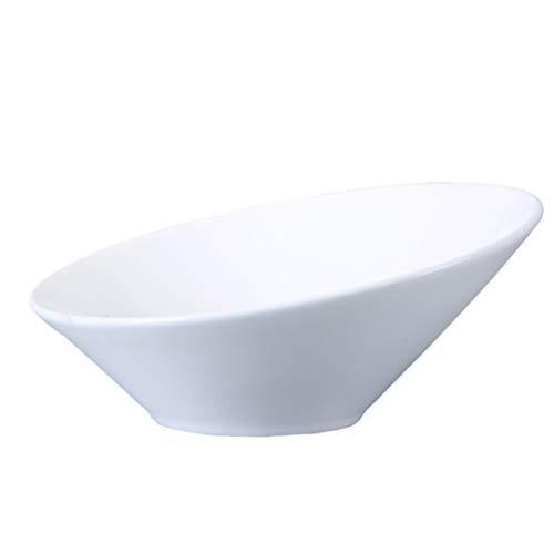 UPKOCH Ciotola per insalata in ceramica, inclinata, per dessert, cereali, gelato, in porcellana, per snack, per antipasti, frutta, dessert, cereali