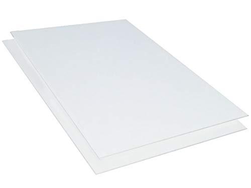 Kunststoffplatte ABS 3mm Weiß 500x300mm (50x30cm) Acrylnitril-Butadien-Styrol - Made in Germany - Einseitige Schutzfolie - Top Qualität