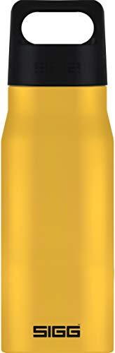SIGG Explorer Mustard Trinkflasche (0.75 L), schadstofffreie und auslaufsichere Trinkflasche, robuste und geruchsneutrale Trinkflasche aus Edelstahl