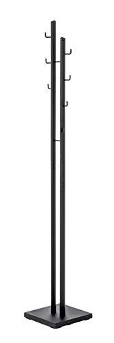 HAKU Möbel Appendiabiti Albero, Metallo, Nero, 29 x 29 x 176 cm