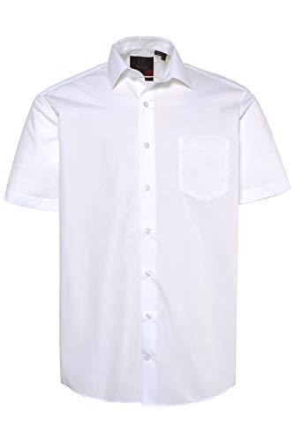 JP 1880 Herren große Größen bis 8XL, Halbarm-Hemd, Businesshemd, Popeline-Gewebe, bügelfrei, Kent-Kragen, Brusttasche weiß 4XL 713990 20-4XL
