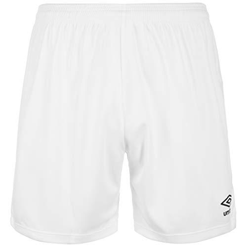 Umbro Pantalones Cortos Unisex New Club, Unisex Adulto, Pantalones Cortos, 64505U, Blanco, Extra-Large