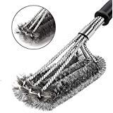YMSZ BBQ Grill Brush and Scraper, Best Rated Safe 18'' Barbecue Stainless Steel Grill Cleaning Brush Tools for Porcelain/Ceramic/Gas/Charcoal Grill.