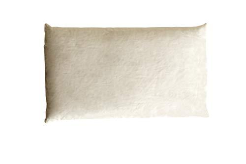 Bee PlaNa Cojín de espelta de 40 x 60 cm, funda de cojín de algodón 100 % Öko-Tex Standard, resistente al polvo, con espelta y relleno de espelta de cultivo de Alemania, hecho a mano