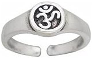 Sterling Silver Aum or OM Yoga Symbol Toe Ring or Pinky Ring