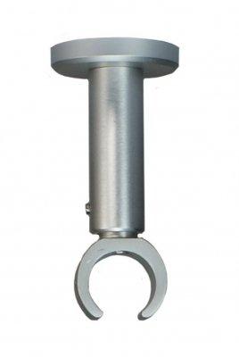 Deckenträger für Gardinenstangen mit 20 mm Durchmesser in alu - Silber - Variabler Deckenabstand