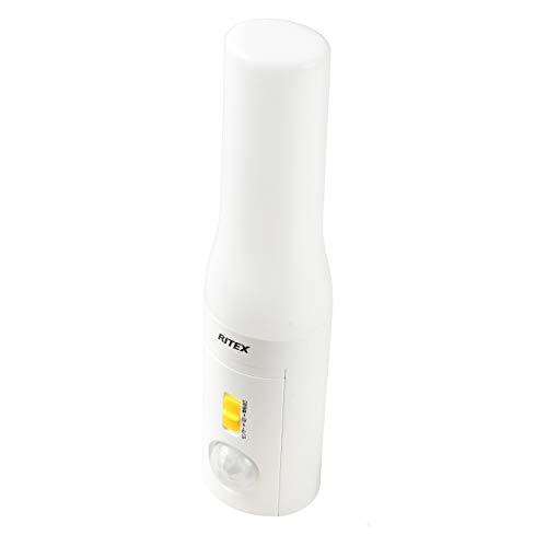 ムサシ どこでもセンサーライトおかえりプラス懐中電灯(乾電池式) ASL-035 W
