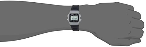 Casio watches Casio Men's Classic Quartz Watch with Resin Strap, Black, 19.25 (Model: F-91WM-1BCF)