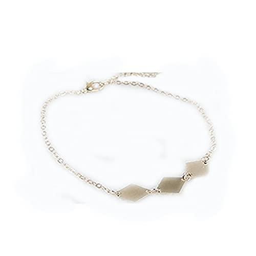 Moda Simple de cobre con forma de diamante pulsera