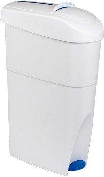 Blanc HYGIENIC Damenhygiene-Behälter geschlossen mit Fußpedal zum einfachen öffnen - für sanitäre Abfälle, Damenbinden, Tampons etc.
