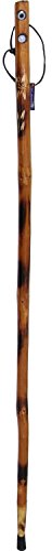 """SE Wooden Walking/Hiking Stick with Built-in Compass and Thermometer, 55"""" - WS625-55CT"""