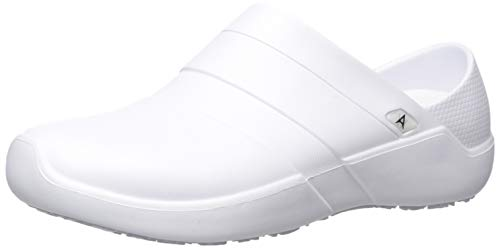 Anywear Women's Journey Health Care Professional Shoe, White/White, 8.0 Medium US