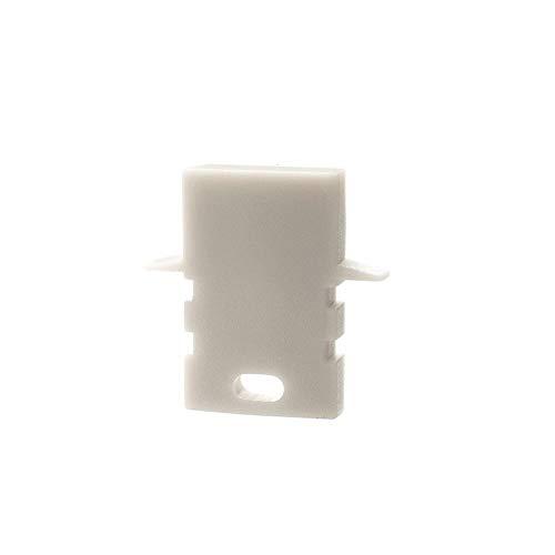 reprofil Accessoires pour LED Profil en H et de 02–05 Embout, Lot de 2, blanc 979190