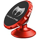 Mosafe Magnetic Car Phone Mount Holder, Universal 360 Degree Rotation Dashboard Car Dash Mount for GPS iPhone Xs Max XR X 11 8 7 6 Plus/Samsung Galaxy S20 S10+ S9 S8 / Note 8 (Red)