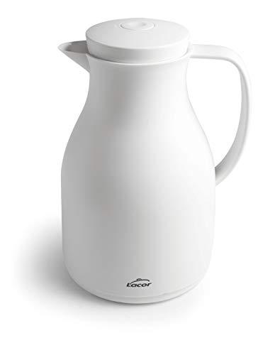 Lacor 62579 62579-Jarra Termo Libre de BPA con Doble Pared y Capa de Vidrio en el Interior, Blanco Mate, 1'50 L, Polipropileno