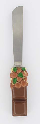 Fackelmann 42028 - Espátula para Pasta, Cuchillo para Untar, Acero Inoxidable, marrón,...