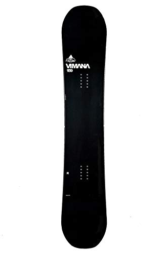 Vimana Continental Twin Rocker Snowboard 156cm Black