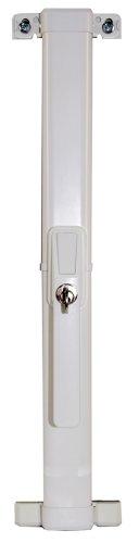 ABUS Fenster-Zusatzsicherung FOS550 - Stangenschloss mit Druckzylinder, verschiedenschließend - ABUS-Sicherheitslevel 10 - 11911 - Weiß