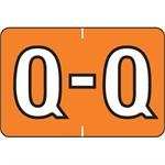 Q-Orange Barkley ABKM Alpha Labels, 500/ROLL (Q-Orange)