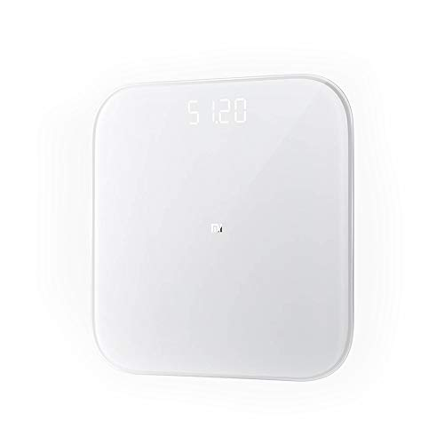Xiaomi Mi Smart Scale 2, badkamer-/keukenweegschalen, nauwkeurige precisie, BMI-calculator en LED-display - wit