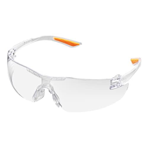 SIR Gafas de protección de seguridad EN 166 EN 170 CE ligeras, transparentes, protección UV puente confort para industria, laboratorios