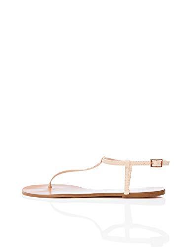 Marca Amazon - find. Toe Thong Sparkly - Sandalias con punta abierta Mujer