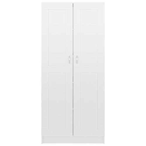 Wooden Storage Cabinet Modern Freestanding Bookcase Tall Cupboard with 2...