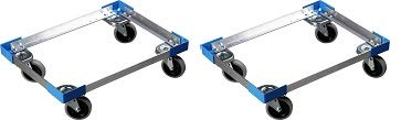 Carlisle Cateraide PC300N End-Loading Food Pan Carrier Dolly, Aluminum (2-(Pack))