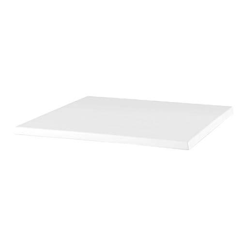 Werzalit Plus Cg904 carré Dessus de table, 600 mm, blanc