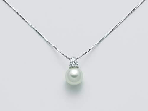 Collana Nimei PCL5621A Oro 750/1000 con diamanti e perla collezione South Sea