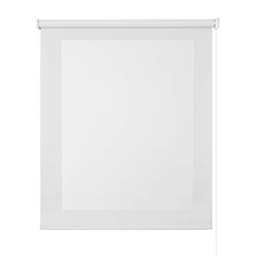 STORESDECO - Estor Screen, Estor Enrollable con Tejido Técnico para Puertas y Ventanas (120 cm x 250 cm, Blanco) | Estor Enrollable Aislante Térmico, Translúcido, Tamiza la Luz y Aporta Privacidad