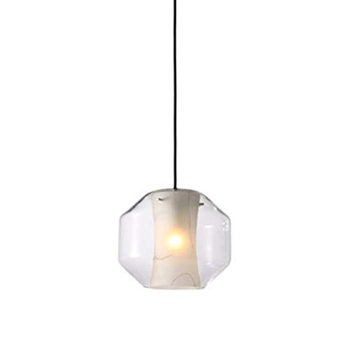U/D Araña Lámpara Moderna Tienda de Ropa de Noche Cafe Bar Restaurante imitación de mármol Textura lámpara de Cristal 20 * 25cm MJZHJD