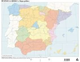 Mapa político España (Mapas mudos): Amazon.es: Edicións do Cumio ...
